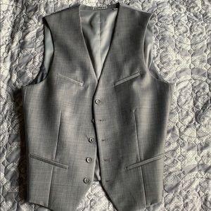 Gray EXPRESS Button up Vest